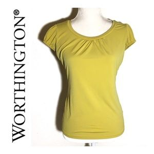 Worthington Yellow Stretch Top